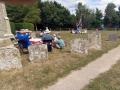 8/8/18. Aldworth walk with tea in the churchyard.