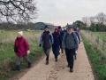 12/12/18. Christmas Lunch walk  around Caversham Heath Golf Club.